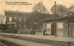 Ansichtskarte Bahnhof Werbig anno 1919