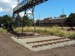 Die Signalbrücke mit Gleisen