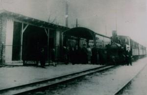 Schmalspurbahn im Bahnhof Müncheberg