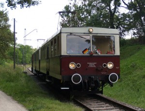 Buckower Kleinbahn unweit des Bahnhof Müncheberg