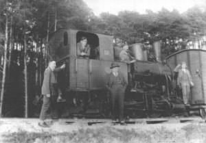 Schmalspurlok um 1930 kurz vor der Einstellung der Schmalspurbahn