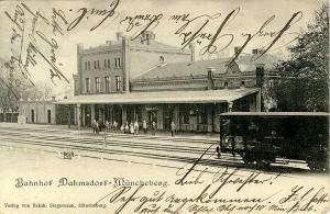 Ansichtskarte Bahnhof Dahmsdorf-Müncheberg anno 1903