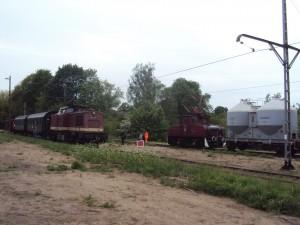Betrieb auf allen Gleisen in Münchberg. Foto: A.Hauschild