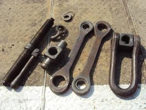 zerlegte und gereinigte Teile der Schraubenkupplung (Foto: A.Hauschild)